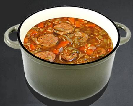 Чечевичный суп с капустой