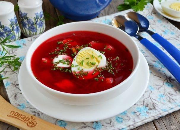 Свекольник-холодняк с яйцом рецепт с фото