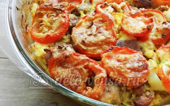 Cвинина, запеченная с овощами