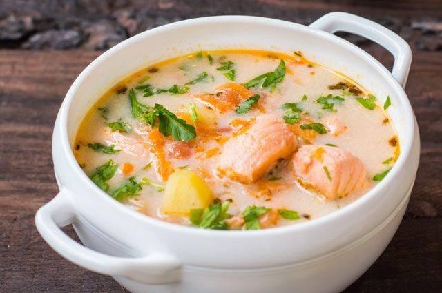 Сливочный суп с сeмгой