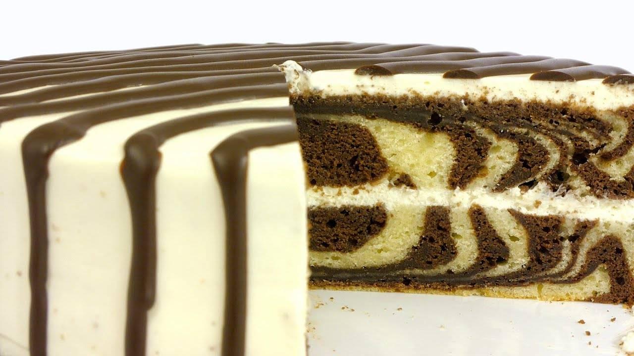 Торт зебра: простые рецепты с фото