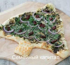 Пицца — новогодняя елка