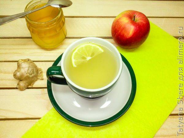 Имбирный чай с цитрусовыми нотками
