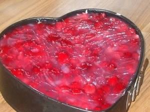 Бисквитное пирожное «валентинка»