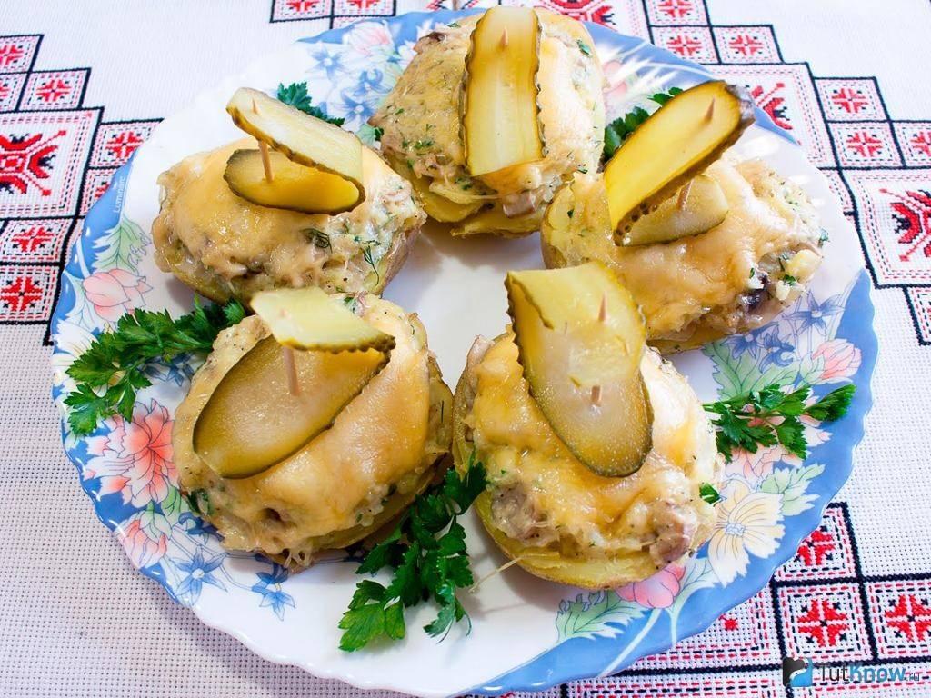 Картофельные лодочки с курицей - рецепт с фотографиями - patee. рецепты