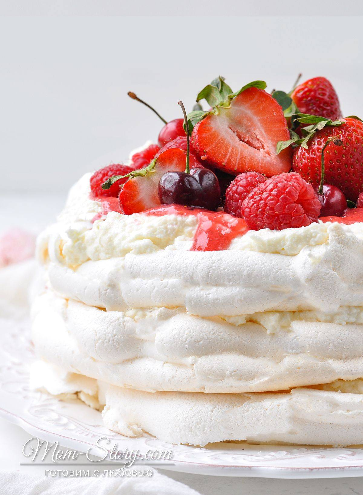 Торт с безе - рецепты