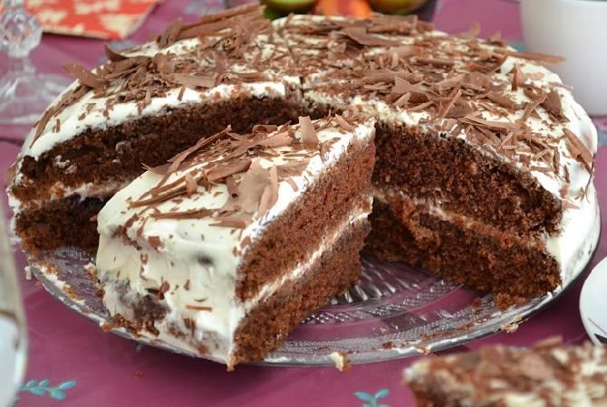 Шикарный шоколадный шифоновый бисквит