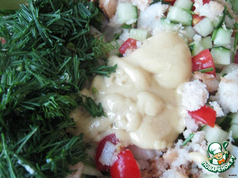 Итальянский хлебный салат с овощами: просто и со вкусом