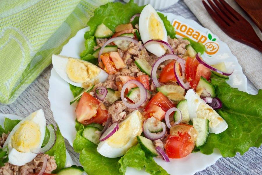 Вкусные и полезные рецепты салата с тунцом и огурцом