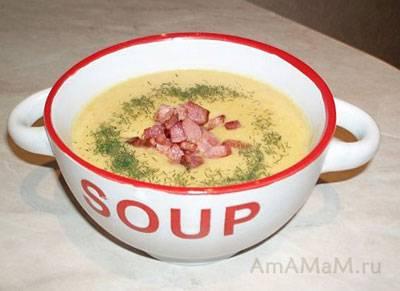 Постный гороховый суп-пюре с овощами
