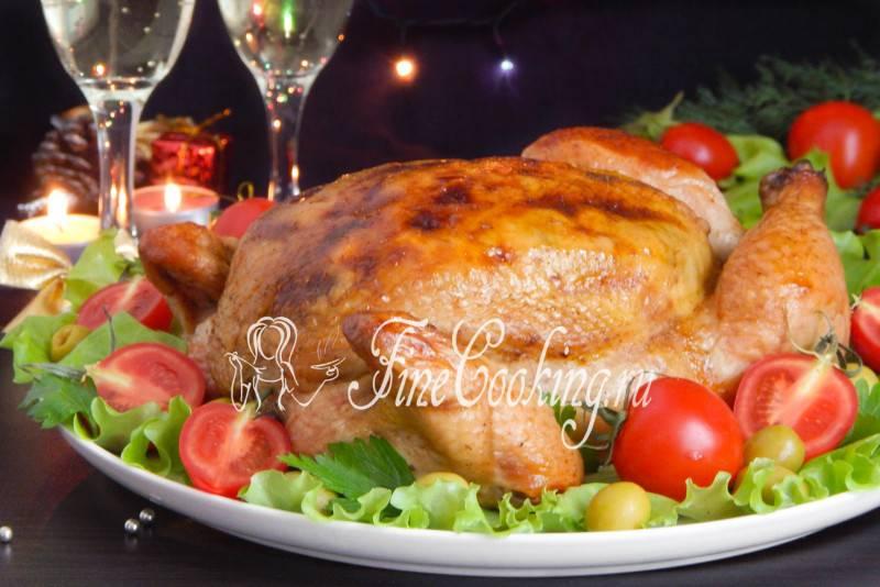 Курица, фаршированная луком