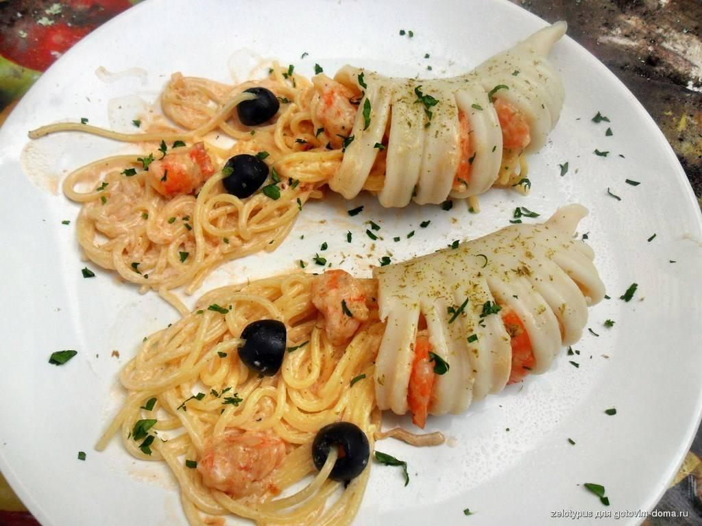 Паста с кальмарами рецепты приготовления с фото