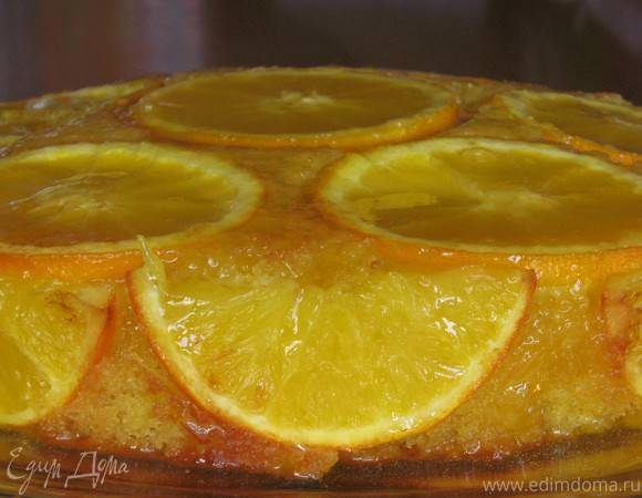 Песочный пирог с мандаринами