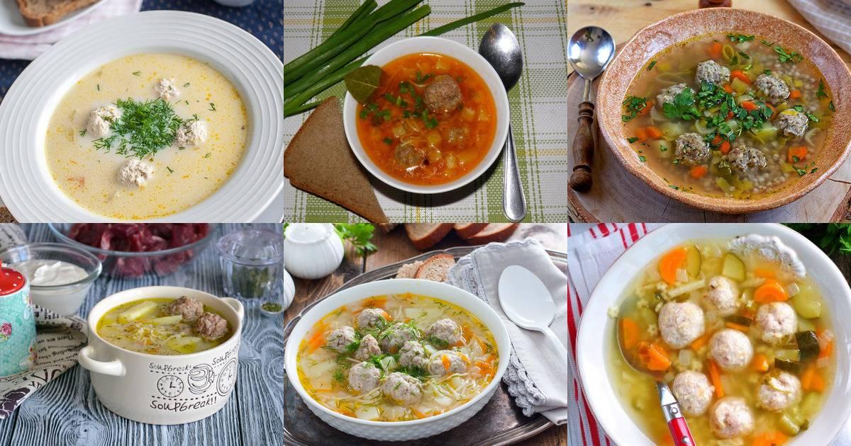 Деревенский постный суп с фрикадельками