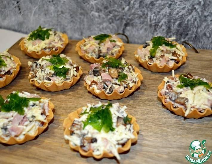 Рецепты тарталетки с грибами
