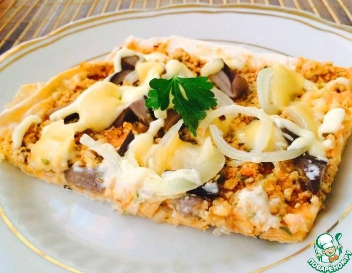 Пицца на сковороде без майонеза