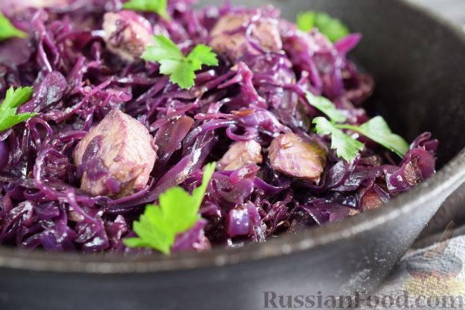 Рецепт вкусной тушеной краснокочанной капусты с яблоком