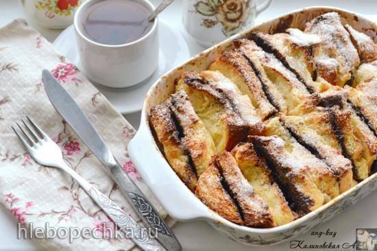 Хлебный пудинг с апельсиновым джемом рецепт – выпечка и десерты.