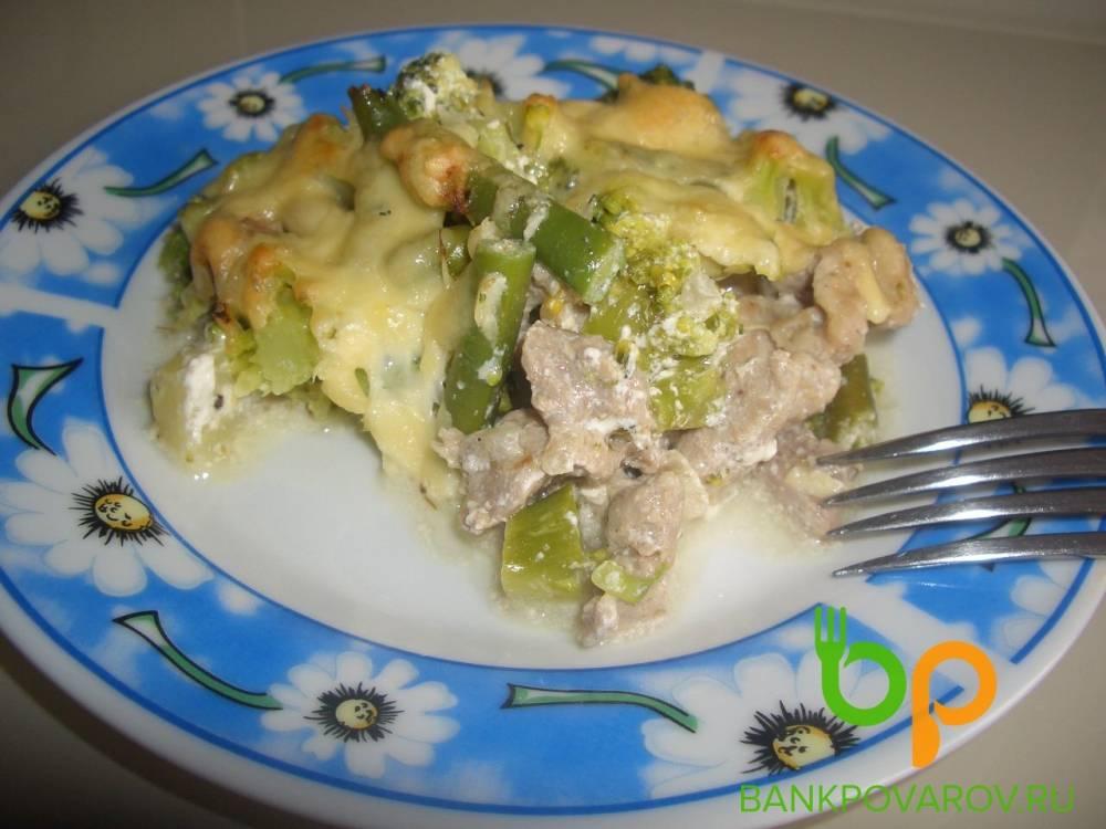 Запеканка из стручковой фасоли с яйцом и сыром, рецепт с фото