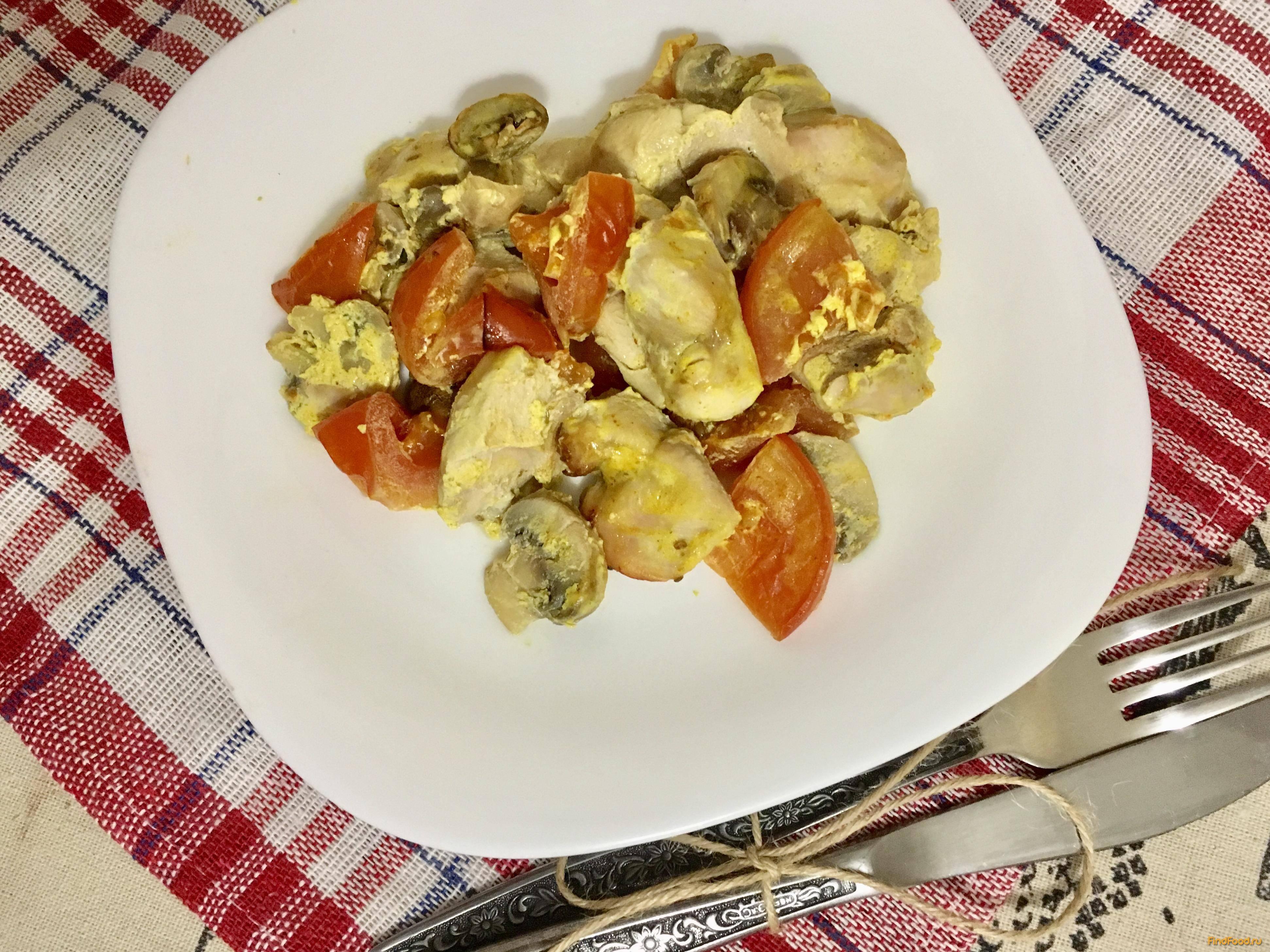 Филе индейки в духовке с овощами и сыром. рецепт с фото.