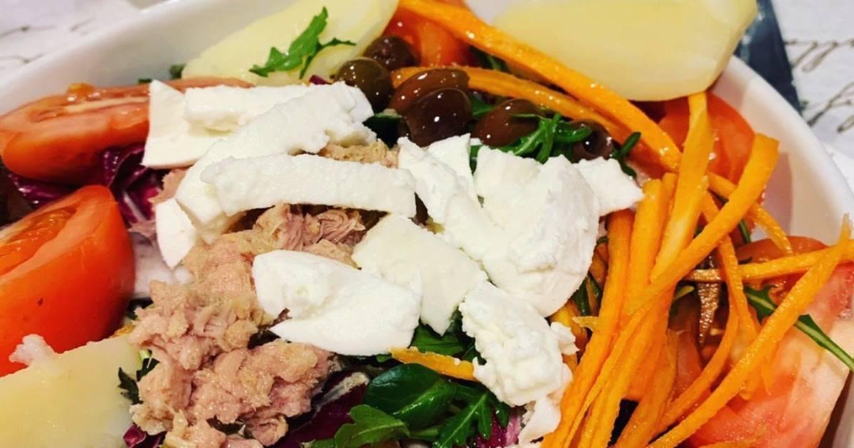 Быстрый салат с тунцом - 10 минут и готово