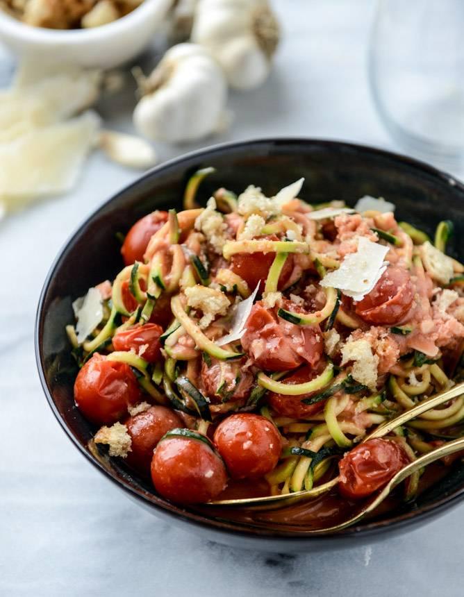Быстрое блюдо: паста с грудкой и кабачками