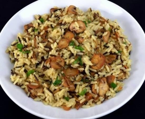 Рисовая каша с грибами рецепт с фото