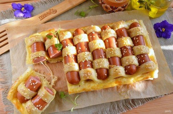 Праздничная колбаса в тесте