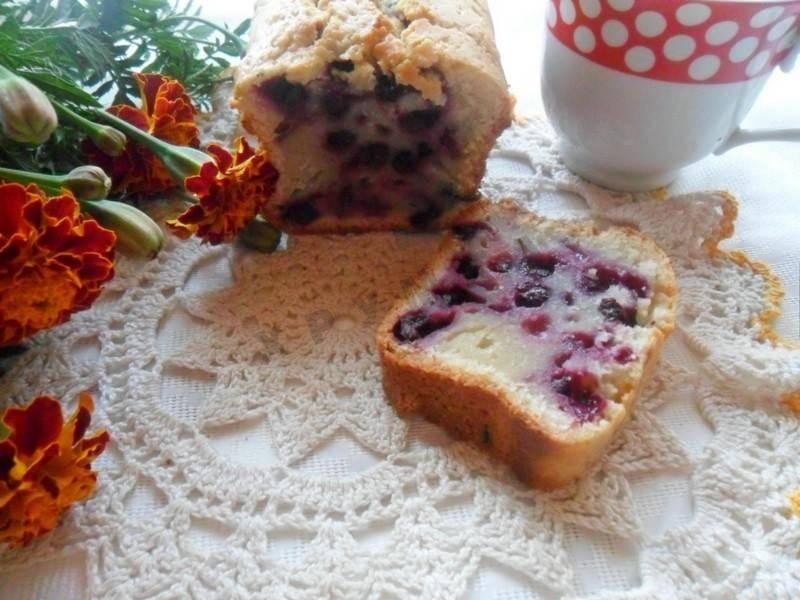 Постный ягодный кекс