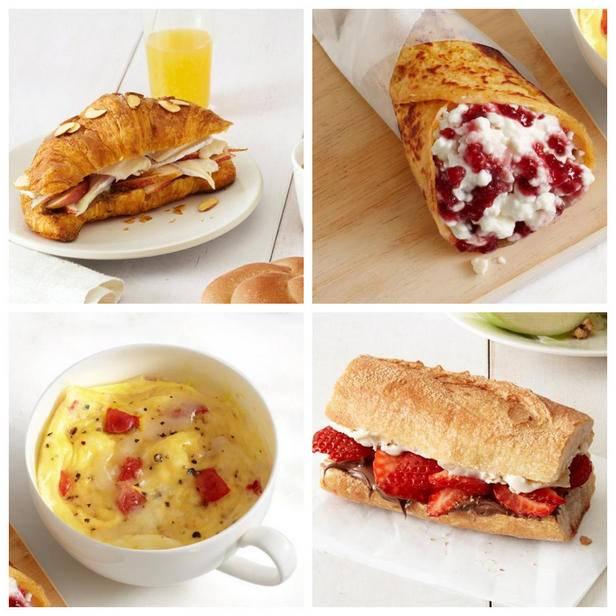 Хрустящий тост на завтрак с овощами, беконом и яйцом