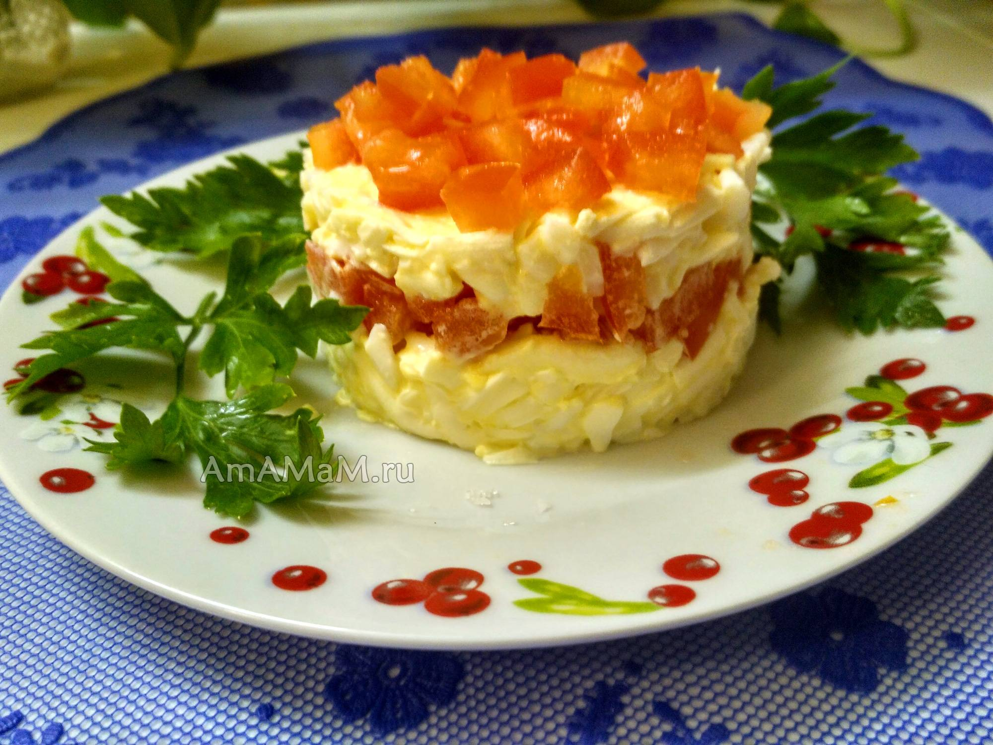 Еврейский салат: классический рецепт с сыром и яйцом