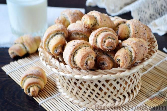 Дрожжевые рогалики с ореховой начинкой - 15 пошаговых фото в рецепте