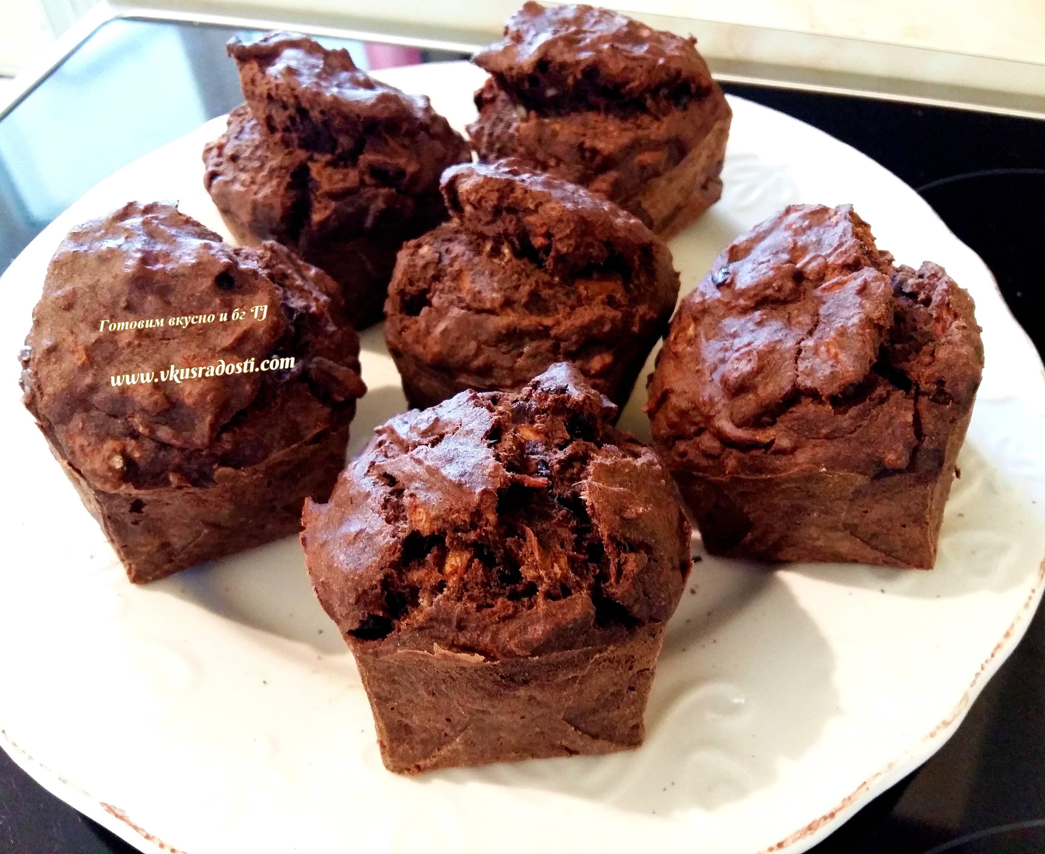 Шоколадные кексы без яиц   мир домохозяйки
