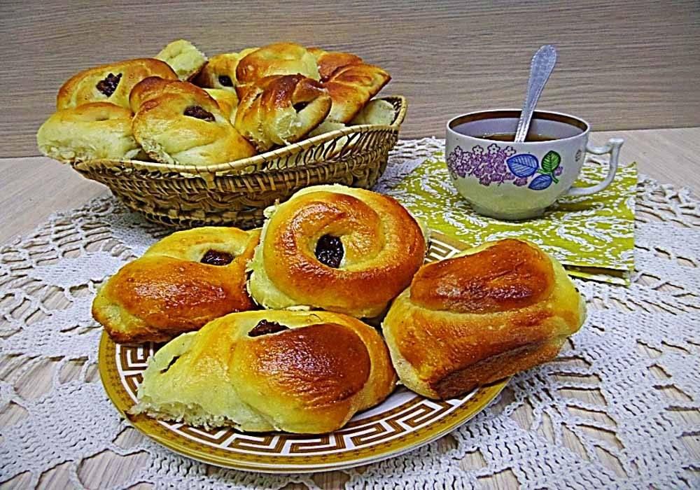 Сдобные пирожки с тремя начинками