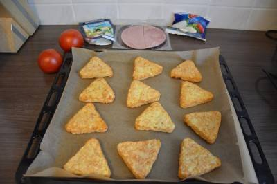 Рецепт: картофельно-грибные треугольники