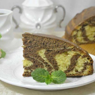 Пирог «зебра» — кулинарные рецепты любящей жены
