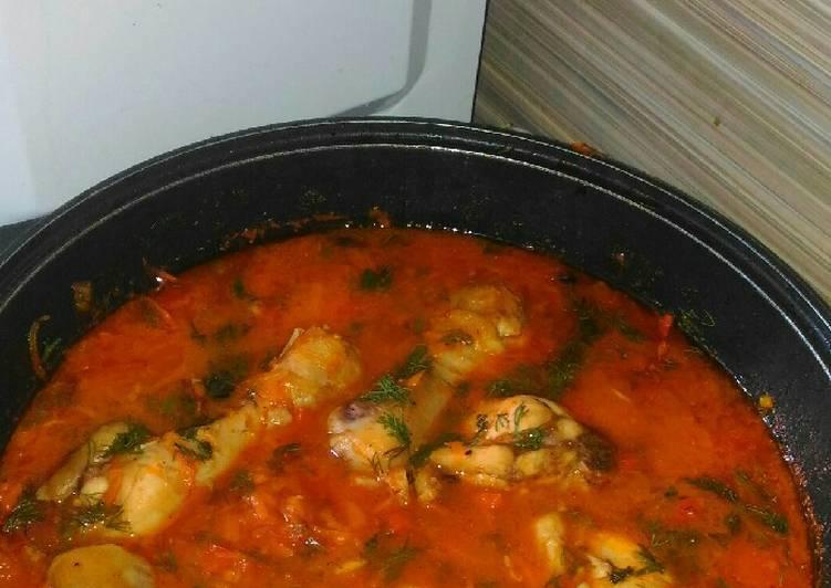 Чахохбили из курицы — домашние пошаговые рецепты