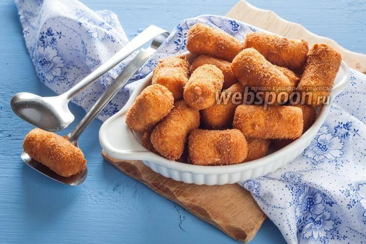 Крокеты из картофеля с начинкой