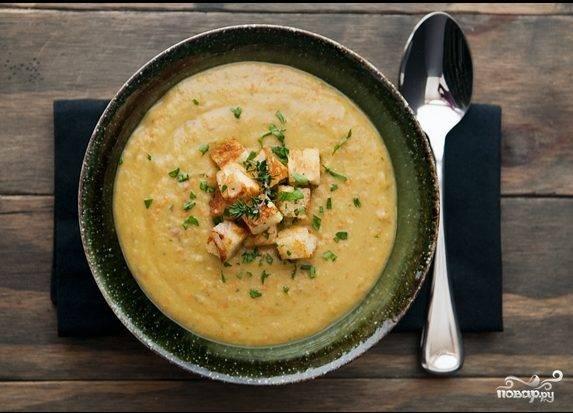 Гороховый суп-пюре со сливками