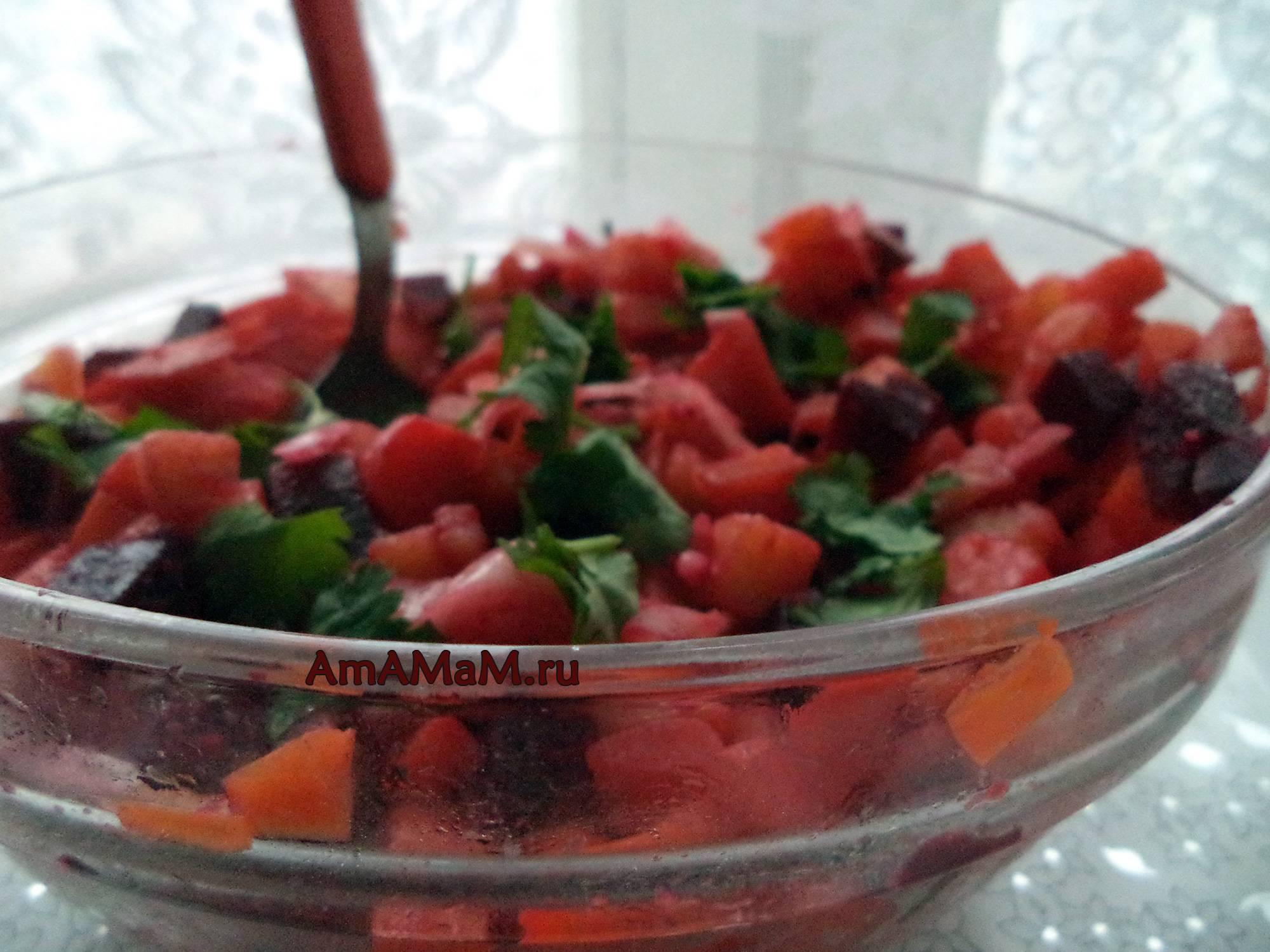 Классический винегрет. очень вкусный рецепт со свежей капустой