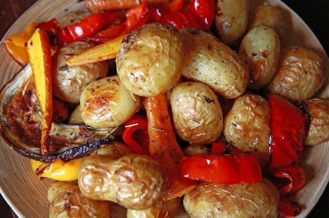 Пошаговый рецепт приготовления запеченных овощей в духовке