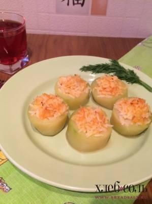 Кабачки фаршированные овощами и запеченные с сыром - рецепты джуренко