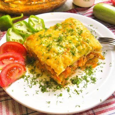Овощная (вегетарианская) лазанья, пошаговый фото-рецепт