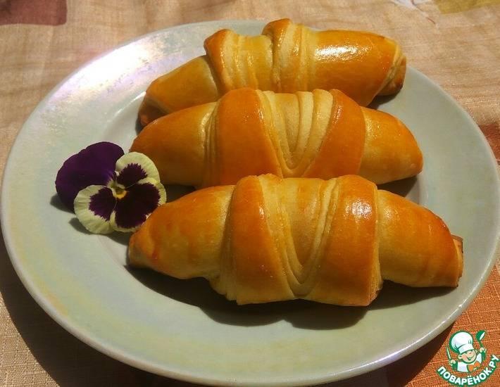 Рогалики из быстрого дрожжевого теста - 5 пошаговых фото в рецепте