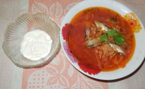 Суп с килькой в томатном соусе - 9 пошаговых фото в рецепте