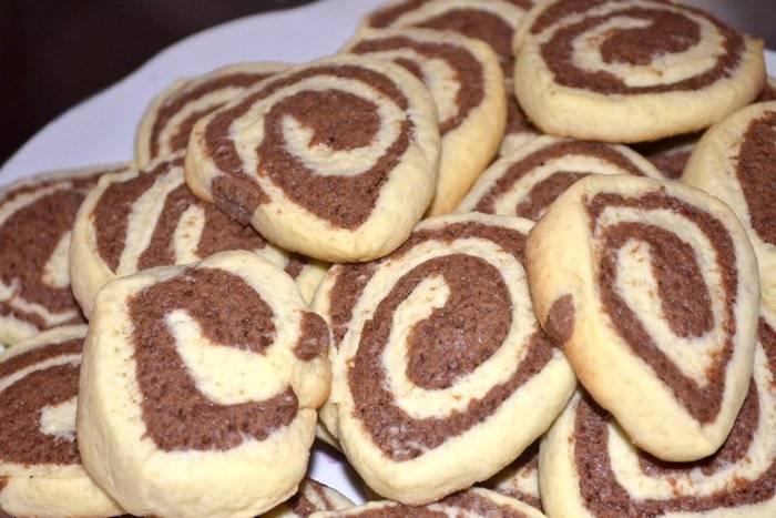 Печенье двухцветное - рецепт с фотографиями - patee. рецепты