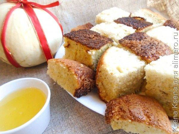 Бисквитный пирог с тыквой в мультиварке-скороварке