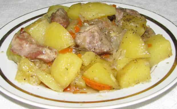 Картошка тушеная с курицей. популярные рецепты