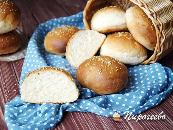 Хлебные булочки на кефире
