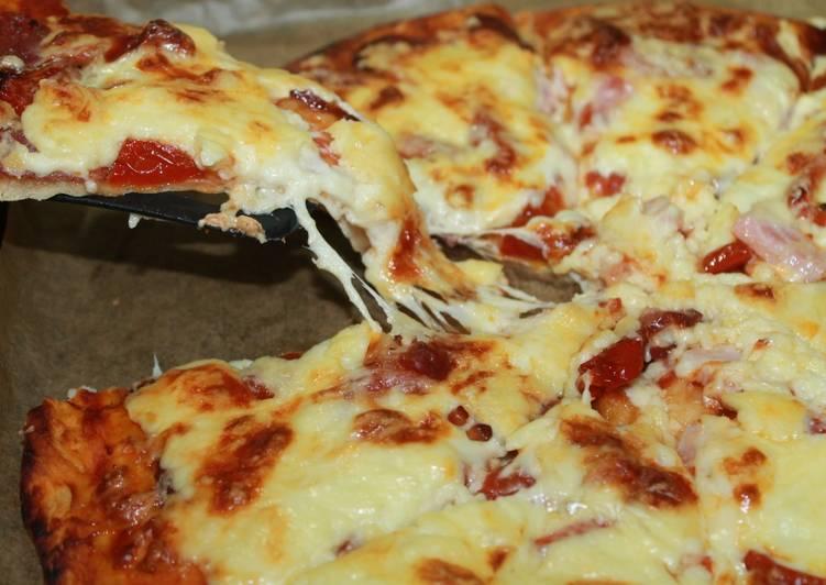 Огненное наслаждение — пицца пепперони
